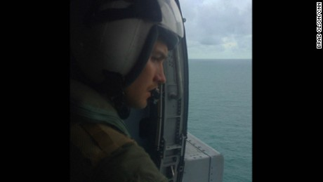 "JAVA SEA: ""The search for AirAsia QZ8501 continues today. I flew out to the USS Sampson to film today. This is a US Navy airman looking out of a Sea Hawk helicopter at the Java Sea, in the area where the plane is believed to have gone down. The weather was quite good for searching but they hadn't found anything today."" - CNN's Brad Olson, January 6. Follow @cnnbrad and other CNNers on the @cnnscenes gallery on Instagram for more images you don't always see on news reports from our teams around the world."