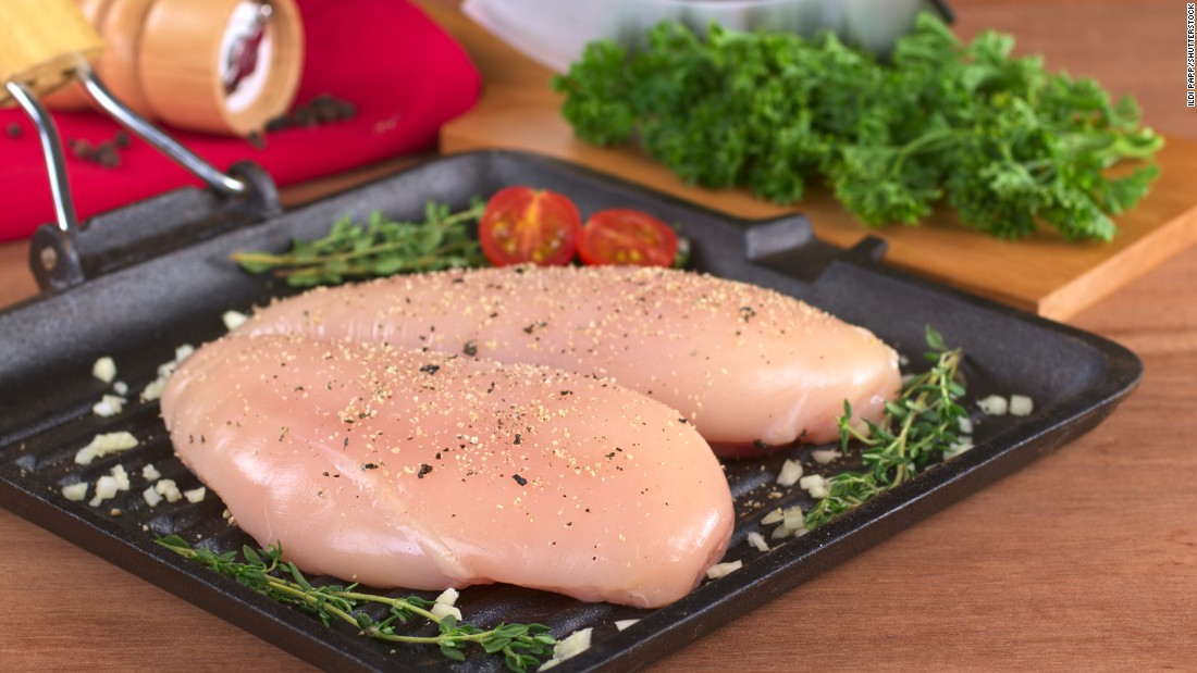 Lean meat like skinless chicken breasts or the white meat of turkey is a good source of protein which makes you feel full, can keep your metabolism high and can prevent you from snacking later in the day, Zinczenko says.