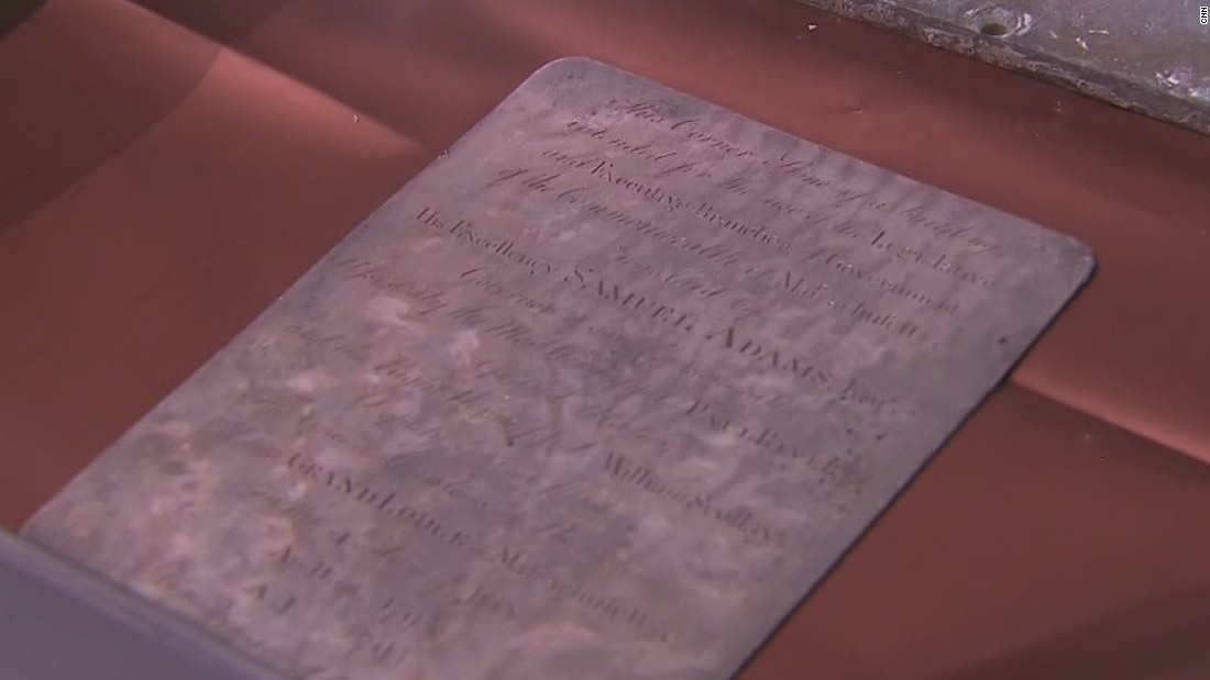 1795 time capsule opened, centuries after Revere and Adams buried it