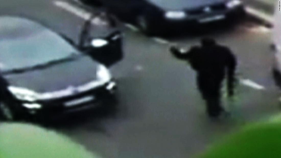 Paris gunmen shoot at police officer