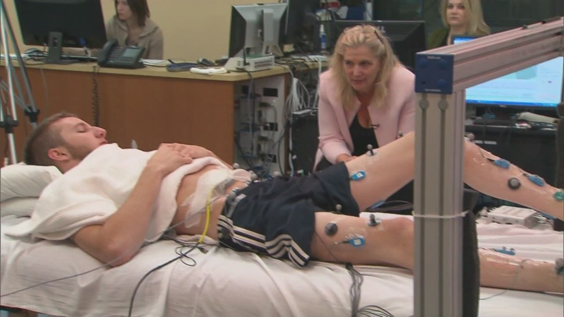 New science helps a paralyzed man move his legs for the first time in years