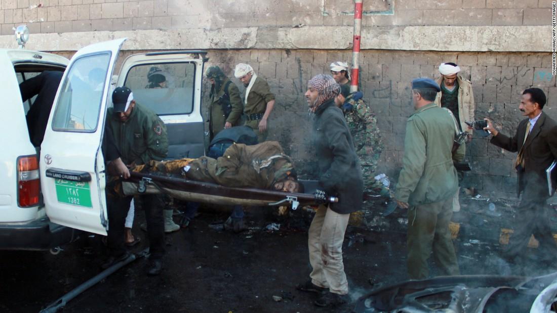 Dozens killed in car bomb blast outside police college in Yemen
