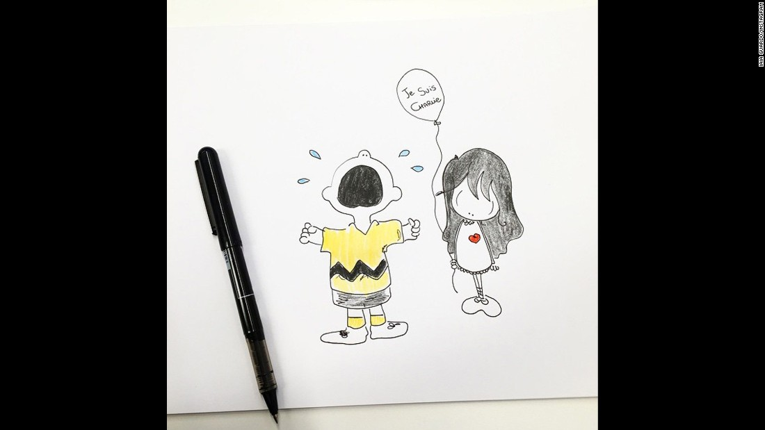 "Italian artist <a href=""http://instagram.com/p/xkRZ6XI1AT/?modal=true"" target=""_blank"">Iaia Guardo</a> shared this illustration on Instagram, inspired by Peanuts comic strip character Charlie Brown."