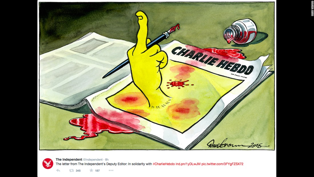 "The Independent's <a href=""https://twitter.com/Independent/status/553103832717094912"" target=""_blank"">front page cartoon</a> by Dave Brown"