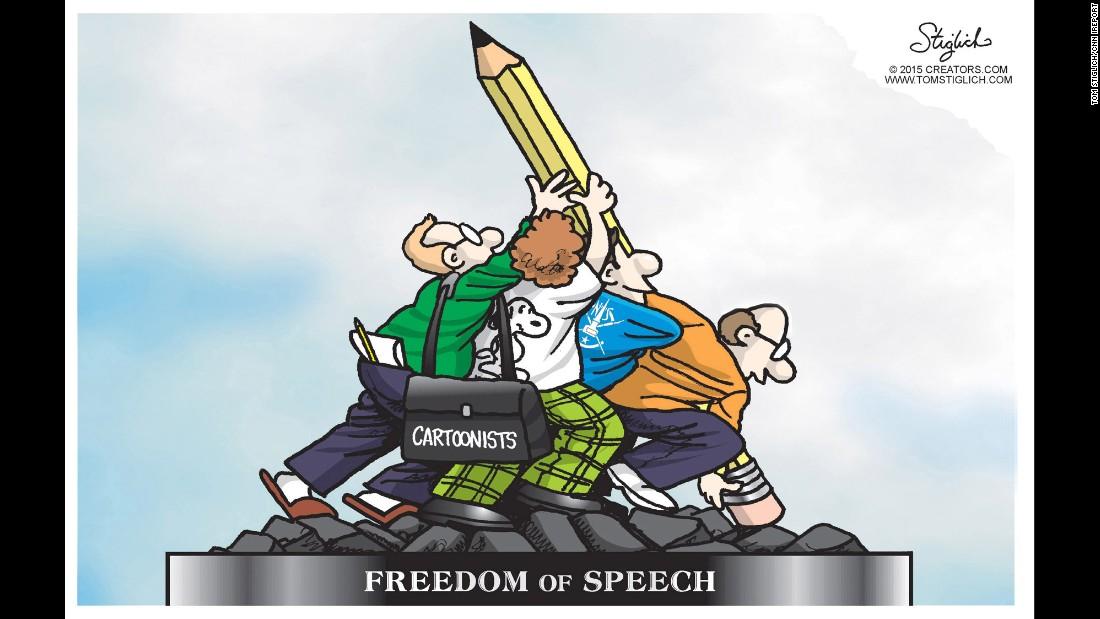 Charlie Hebdo Cartoonists Pay Tribute To Satirists CNN - 24 powerful cartoon responses charlie hebdo shooting