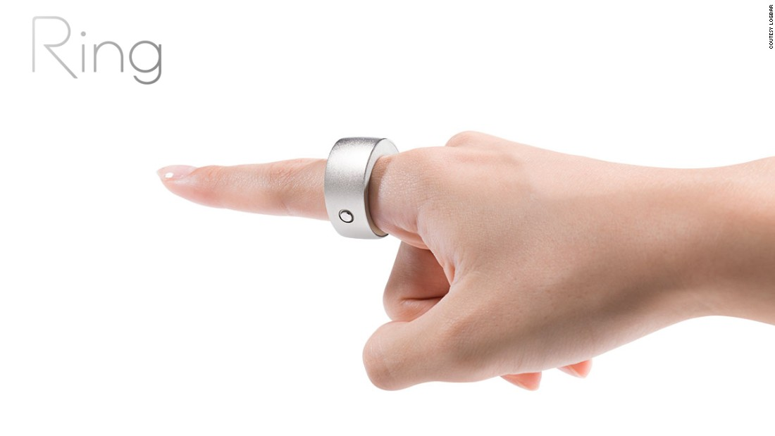 "<a href=""http://logbar.jp/ring/en/"" target=""_blank"">Ring</a> by Logbar allows you to do things such as play music from your phone or close curtains using gestures programmed into a smart phone app."
