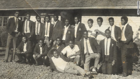 1971: Said Osman with fellow students at Kangaru High School in Embu, Kenya.