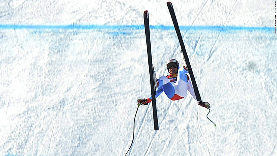 Switzerland's Daniel Albrecht had been skiing in practice for the Kitzbuhel downhill when he misjudged the final jump and flew 40 meters through the air.