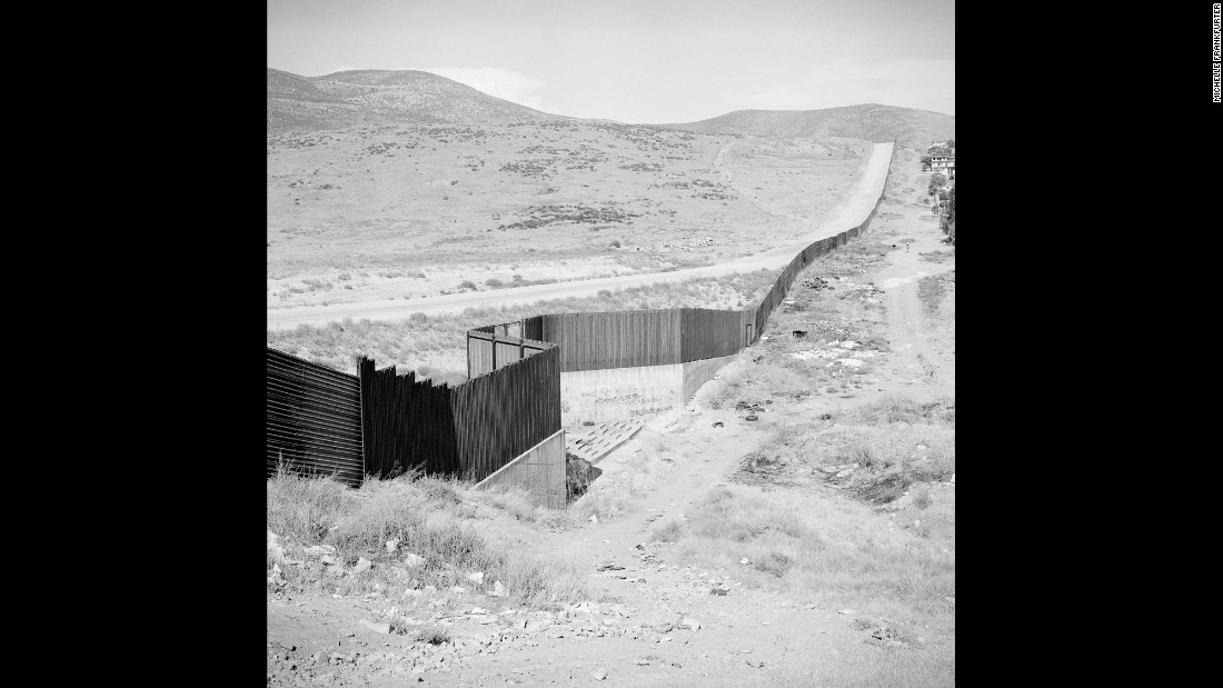The Tijuana-San Diego border fence, as seen from the Mexican side of the border in August 2012.