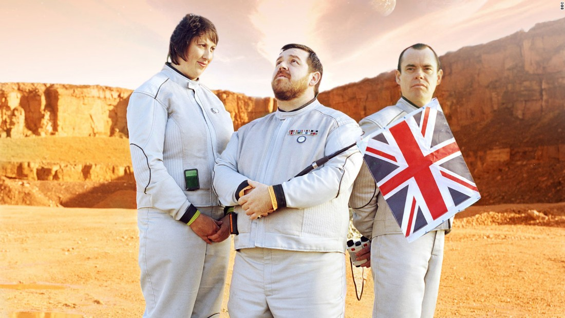 """Hyperdrive,"" starring (left to right) Miranda Hart, Nick Frost and Kevin Eldon."