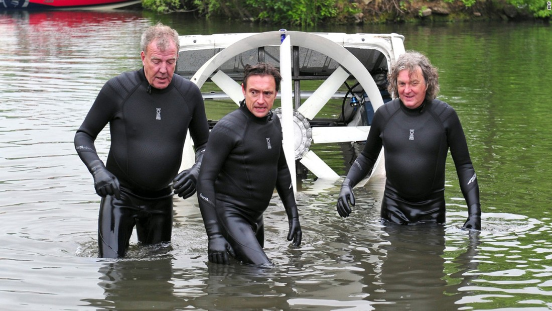"""Top Gear,"" starring (left to right) Jeremy Clarkson, Richard Hammond and James May."
