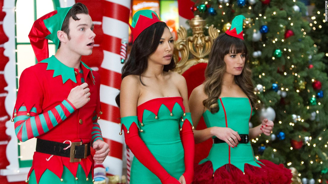 "Rivera (center) is shown here with co-stars Chris Colfer (left) and Lea Michele (right) in a Glee episode. <a href=""http://www.fox.com/glee"" target=""_blank"">Glee's final season</a> ends this spring."