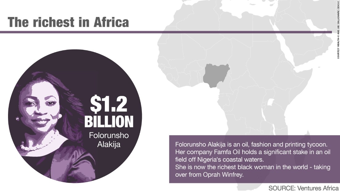 The richest woman in Africa.