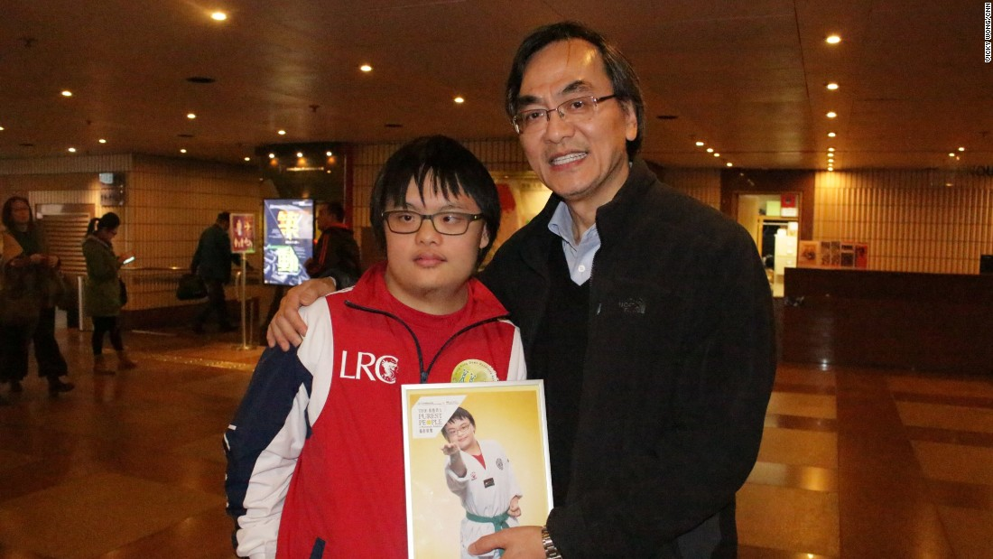 Calib Lee is 19 years-old and was one of the models featured in the exhibition. He has a green belt in Taekwondo and won a bronze medal at the Down Syndrome International Swimming Competition held in Mexico last year.