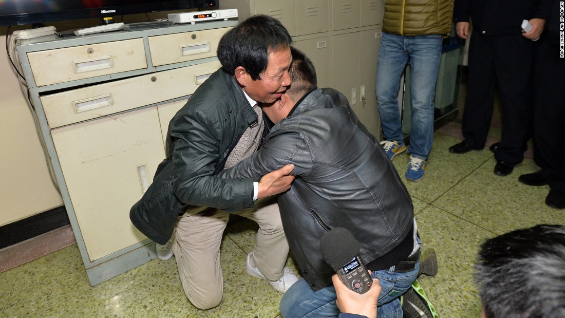 Trafficked Chinese boy reunited with family after 24 years apart