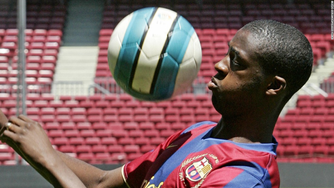 While at Monaco, Barcelona came calling and Toure signed for the Spanish giants in 2007 for a relatively paltry $10 million before making his club debut in the league season opener against Racing Santander.