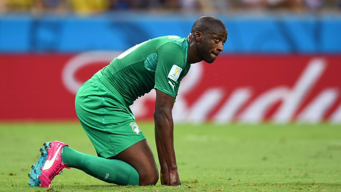 Shortly after the season finish, Toure headed to Brazil for the World Cup but Ivory Coast struggled, as did Toure, pictured playing against Greece just days after the death of his younger brother Ibrahim.