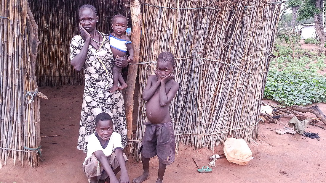 "<br />""This refugee family in Ajuong Thok is worried. They are thinking about the people that they left behind in the Nuba Mountains. Life in Ajuong Thok is very difficult for single mothers. If she needs to go to collect firewood or water, who will look after her child?"""
