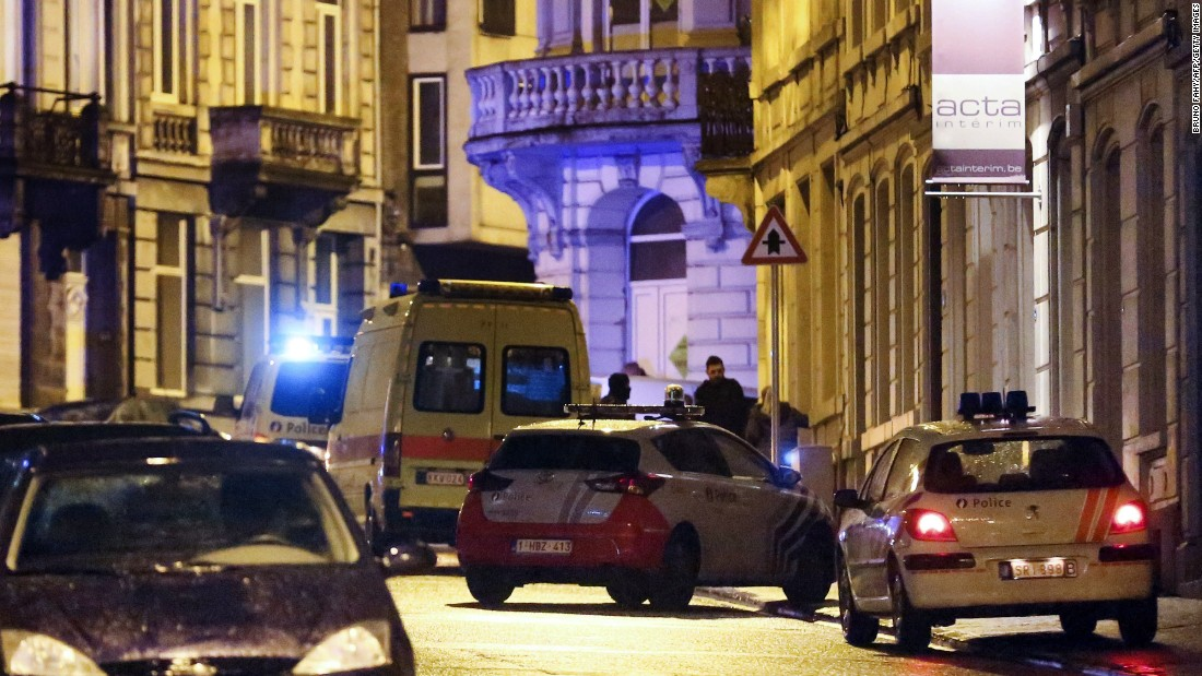 Police set a large security perimeter in the center of Verviers. A senior Belgian counterterrorism official told CNN that the alleged terror cell is believed to have received instructions from ISIS.