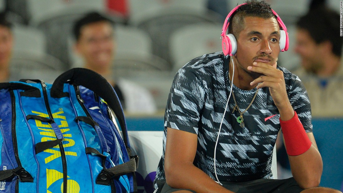 Injuries at the start of the new 2015 season means Kyrgios has spent much of the build-up to the Australian Open on the sidelines.