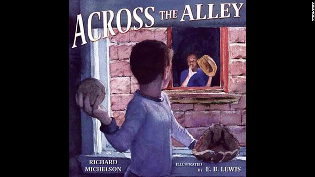 """Across the Alley,"" written by Richard Michelson and illustrated by E.B. Lewis, tells the story of an African-American child and Jewish child who develop a secret friendship."