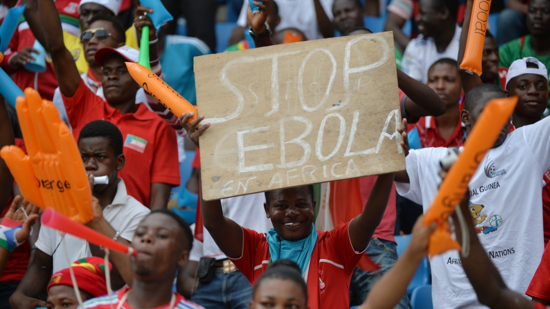 Morocco pulled out as host nation because of fears about Ebola and the disease is still on the minds of the fans attending the Africa Cup.