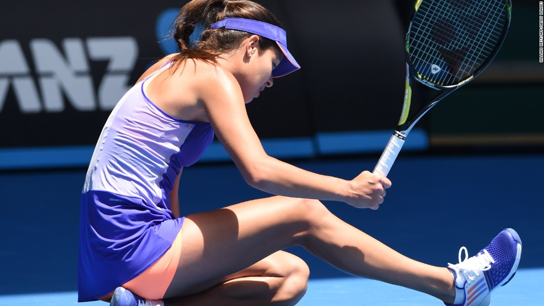 In the first big upset of the tournament, Ana Ivanovic, seen here, lost to a Czech qualifier.