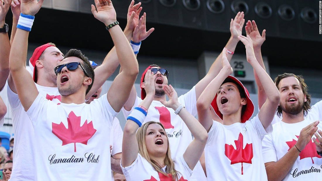 Canadian fans were out in full force rooting for Eugenie Bouchard. Bouchard and Milos Raonic are both top-10 players.