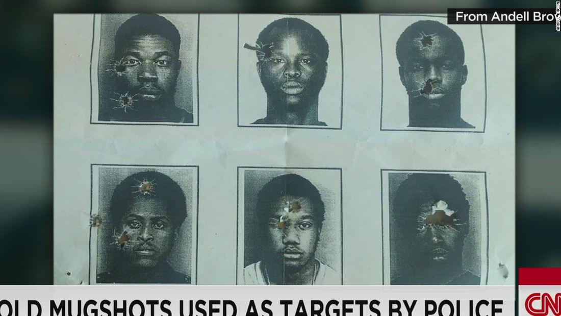 Woman sees images of black males as sniper targets; one is her brother