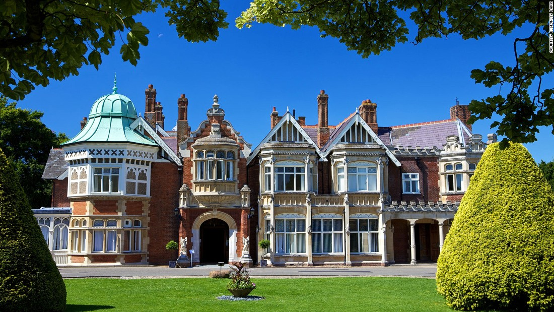 Bletchley Park was the home of Britain's crucial wartime code breaking operations, which Churchill championed.