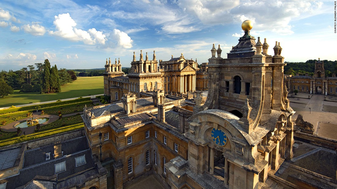 Churchill spent his early years at Blenheim Palace, a 2,000-acre, 187-room Baroque mansion built in the early 1700s to honor his distant relative John Churchill, the first Duke of Marlborough.