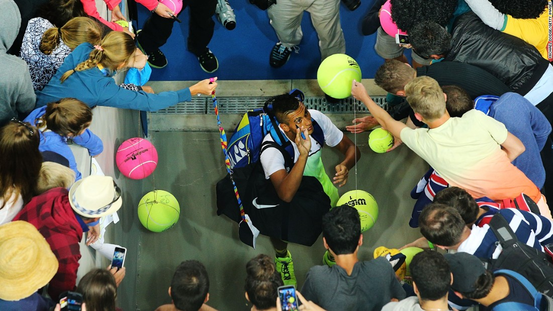 Nick Kyrgios is a man in demand at the Australian Open, the first tennis grand slam of the 2015 season.