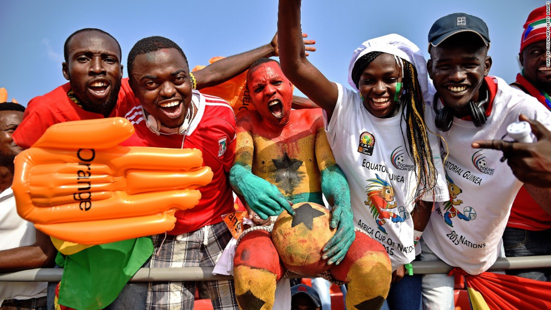 There's a party atmosphere ahead of the Africa Cup of Nations Group C -- the so-called 'Group of Death' -- match between Algeria and South Africa in Mongomo.