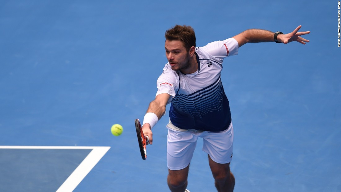 Defending champion Stan Wawrinka, seen here, had an easier time than Djokovic, advancing past Turkey's Marsel Ilhan in 89 minutes.