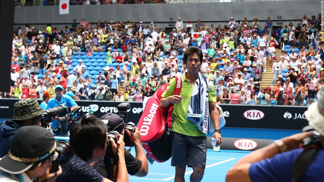 Japan's Kei Nishikori walks off court after beating Spain's Nicolas Almagro. Nishikori has become even more popular, especially in Asia, after making the U.S. Open final.