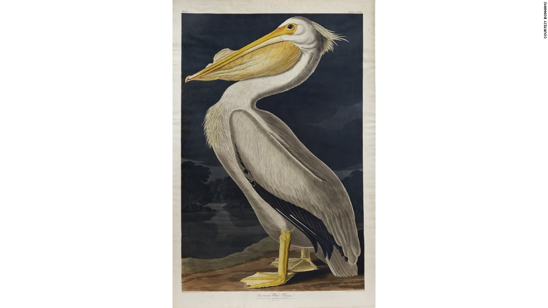 A painting of a white pelican, Bacall's favorite bird, is estimated to fetch $60,000.