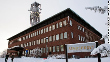 The existing town hall in the northern Swedish town of Kiruna.
