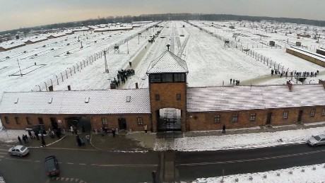 Drone video shows scale of Auschwitz camp