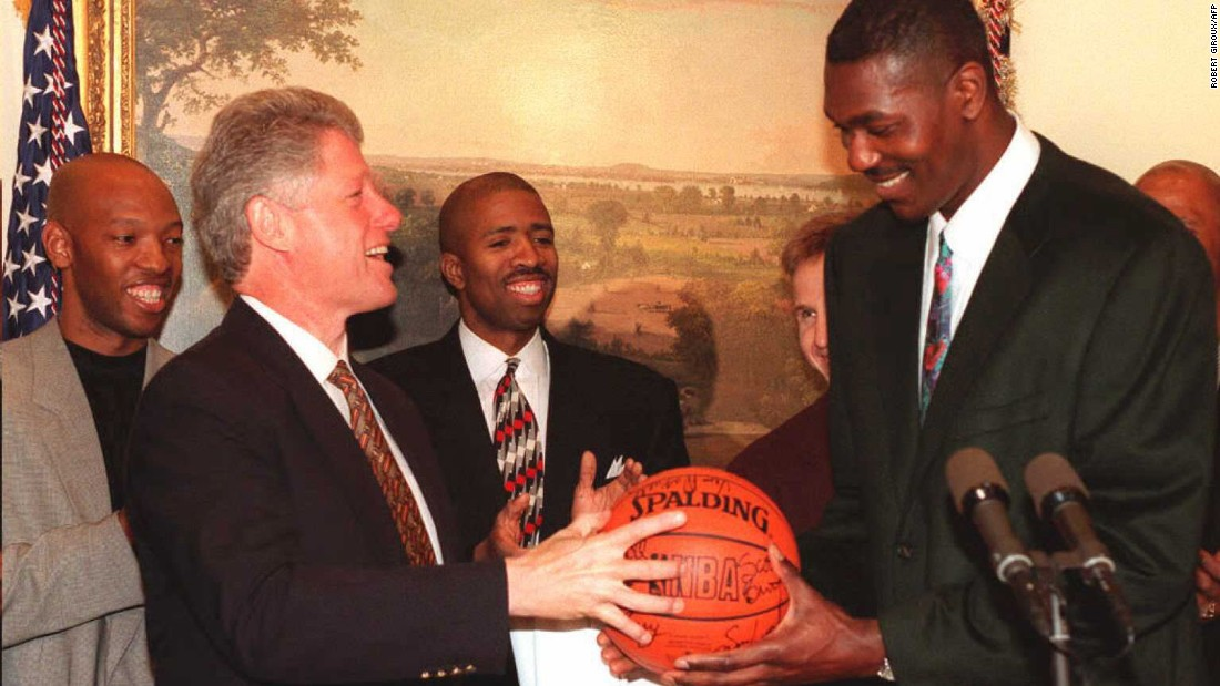 Bill Clinton relives his athletic glory days