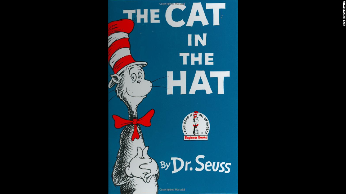 "Dr. Seuss' ""The Cat in the Hat"" was published in 1957. <a href=""http://www.amazon.com/s/ref=nb_sb_noss_1?url=search-alias%3Dstripbooks&field-keywords=dr+seuss+books"" target=""_blank"">Most of his books remain in print</a> and sell briskly a quarter-century after his death."