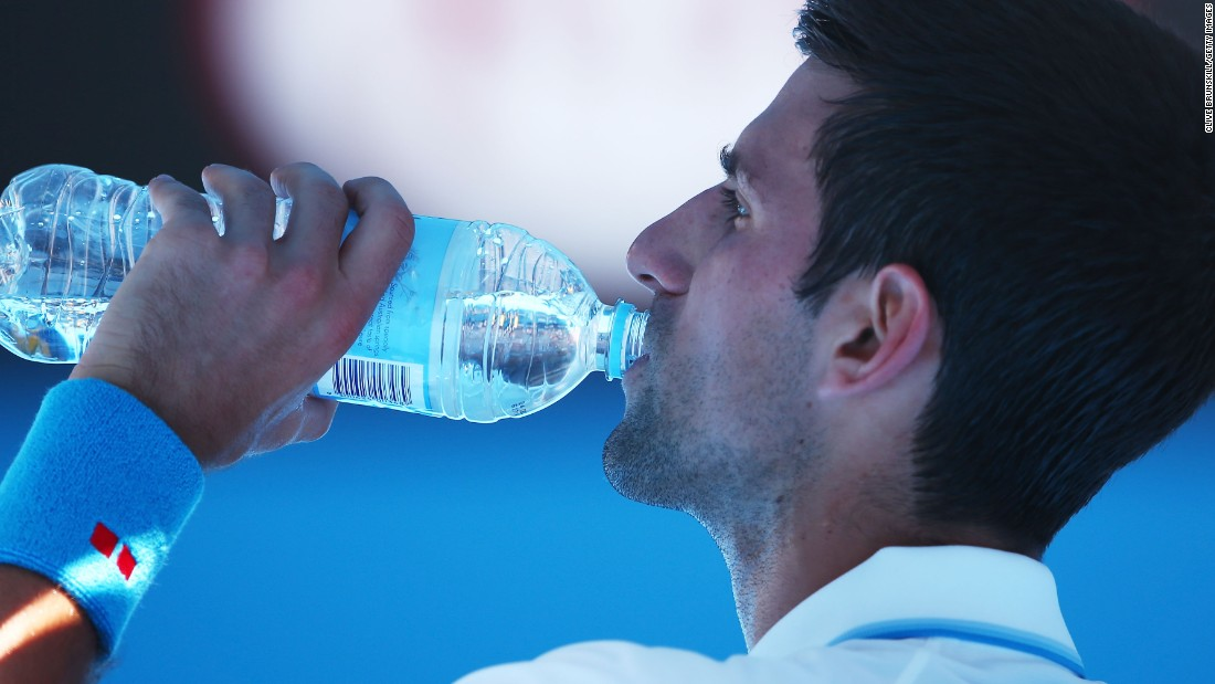 Staying hydrated was key on a day where temperatures hit almost 36 degrees Celsius. Novak Djokovic didn't linger on court, quickly disposing Andrey Kuznetsov.