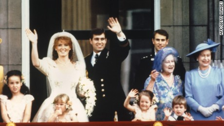 The newly wed Prince Andrew, the Duke of York and his wife Sarah Ferguson, the Duchess of York, in 1986.