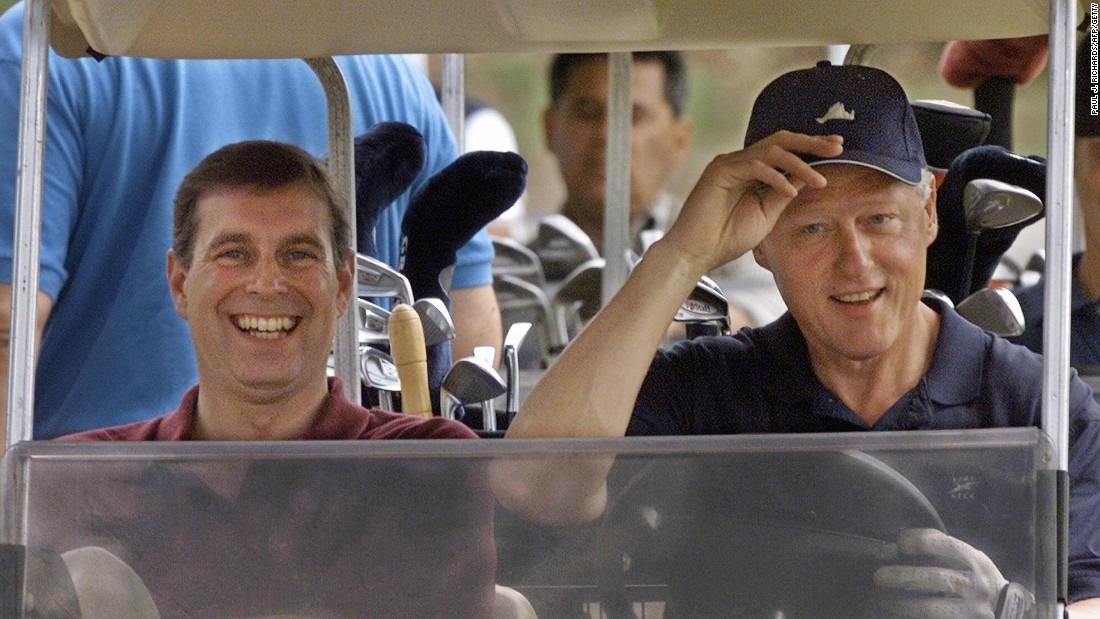 Prince Andrew, pictured with President Bill Clinton at Martha's Vineyard in 1999, is a keen golfer and reported to have a handicap that would allow him to play professionally.