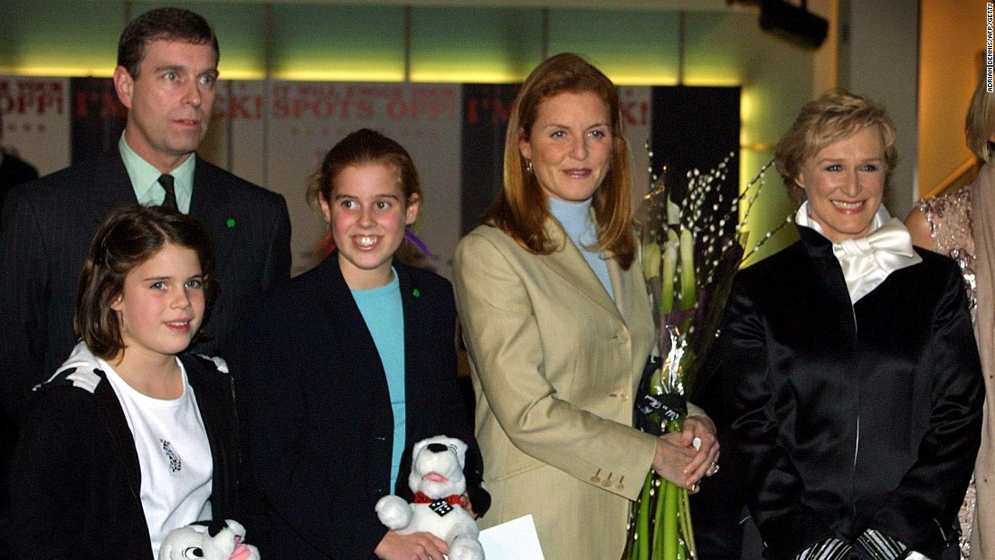 Prince Andrew and Sarah Ferguson have two daughters, seen here in 2000 -- Princess Beatrice (R) and Princess Eugenie (L), pictured here in .