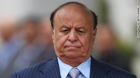 Yemeni President  Abdu Rabu Mansour Hadi, shown in Berlin in 2012, fled to Saudi Arabia after his ouster.