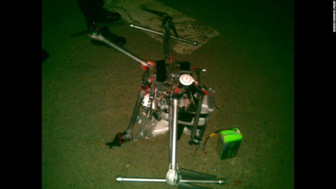 Drone carrying drugs crashes south of U.S. border
