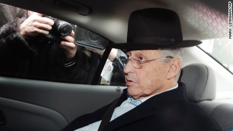 New York Assembly Speaker Sheldon Silver is transported by federal agents to federal court, Thursday, Jan. 22, 2015 in New York. Silver, who has been one of the most powerful men in Albany for more than two decades, was arrested Thursday on public corruption charges. (AP Photo/Mark Lennihan)