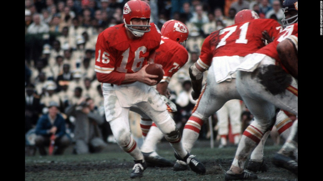 The Kansas City Chiefs lost the first Super Bowl, but they made it count the second time around. Quarterback Len Dawson had 142 yards and a touchdown as the Chiefs beat the Minnesota Vikings 23-7 in New Orleans. It was the second straight year that the AFL champions had defeated the NFL champions, and by the next season the two leagues had merged.