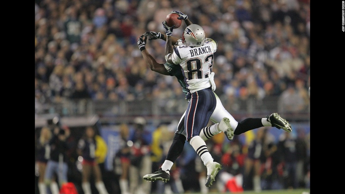 The Patriots became champions for the third time in four years as they defeated Philadelphia 24-21 in Super Bowl XXXIX. This time it was wide receiver Deion Branch who won MVP. He had 11 receptions for 133 yards.