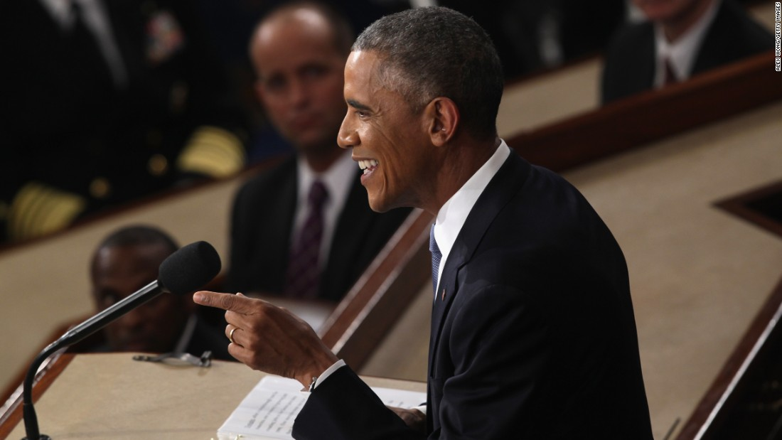 "U.S. President Barack Obama delivers his <a href=""http://www.cnn.com/2015/01/20/politics/gallery/obama-state-of-the-union/index.html"" target=""_blank"">State of the Union address</a> Tuesday, January 20, in Washington. Obama focused on the economic gains that he hopes will become his presidential legacy, <a href=""http://www.cnn.com/2015/01/20/politics/obama-loose-sotu/index.html"" target=""_blank"">and he decided to have a little fun, too.</a> ""I have no more campaigns to run,"" Obama said, drawing loud applause from Republicans in the House chamber. But Obama had a quick comeback: ""I know, 'cause I won both of 'em."""